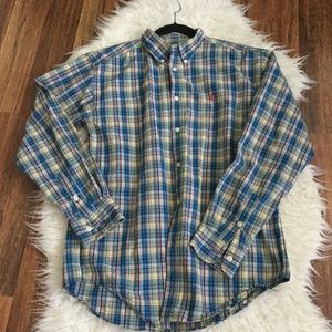 RALPH LAUREN BUTTON DOWN SHIRT SZ  L 16/ 18